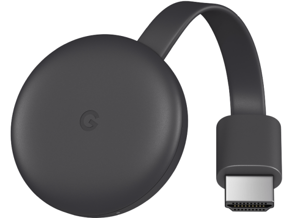 Google Chromecast 3 Smart-TV-Dongle Full HD HDMI Schwarz
