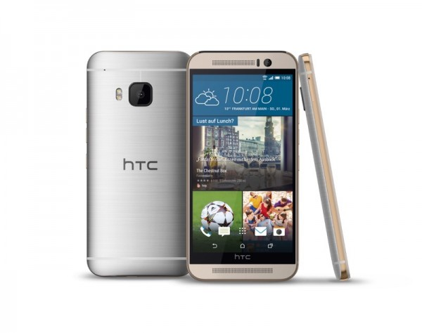 HTC ONE M9 PLus - Gold on Silver